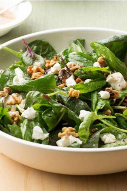 طريقة عمل السبانخ بـ ٥ وصفات شهية ولذيذة وغير تقليدية Spinach Salad Goat Cheese Salad Spinach