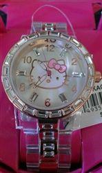 Super cute Hello Kitty Watch!! Hello Kitty by Sanrio Womens Rose Gold Crystal Bezel Watch HKAQ2603 #HelloKitty #HelloKittyWatch #HelloKittyRoseGoldWatch