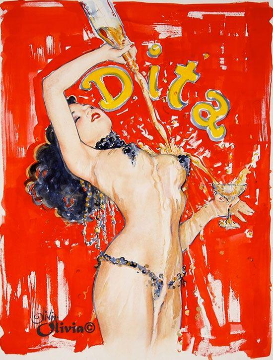 Dita Von Teese by Olivia De Berardinis –Erotica, Painting