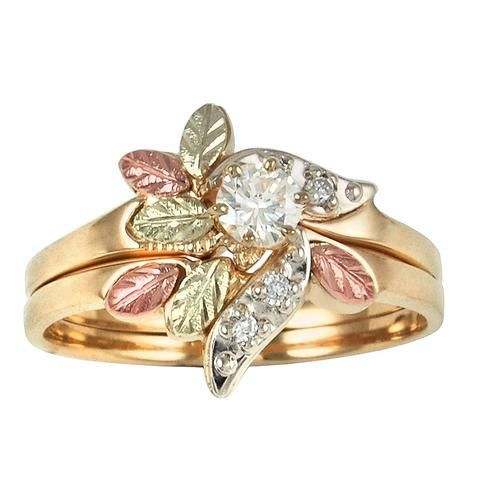 Sizes 4 13 Trj Black Hills Gold Diamond Sparkle Wedding Ring Set 10k And 12k Solid Gold Black Hills Gold Jewelry Black Hills Gold Rings Black Hills Gold