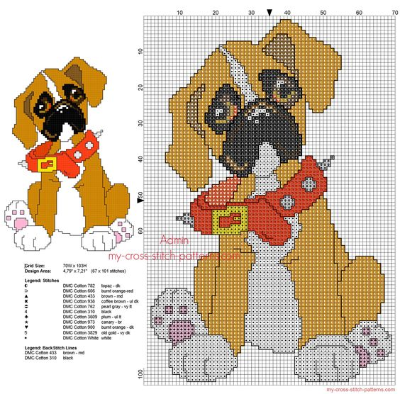 Knitting Patterns For Boxer Dogs : Stitches, Puppys and Patterns on Pinterest
