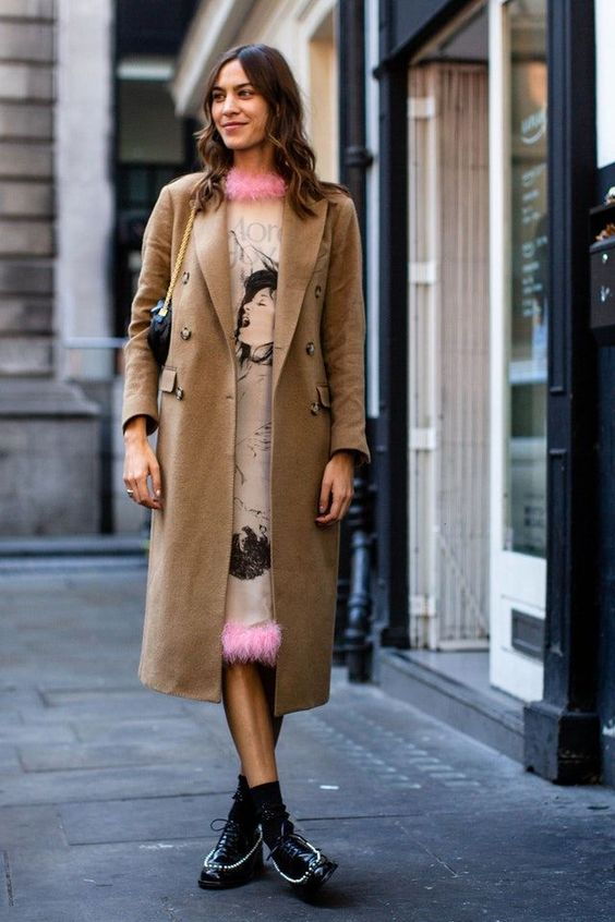 Alexa Chung Feather-Trimmed Dress Embellished Oxfords Wool Coat
