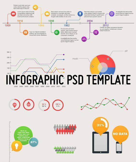 Magnolia Free - Infographic PSD Template | Magnolias, Free ...