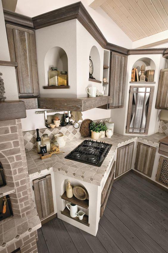 Cucine economiche - wwwtamiazzolucastufeit - Stufe in maiolica - landhauskchen mediterrank che wandpaneel glas