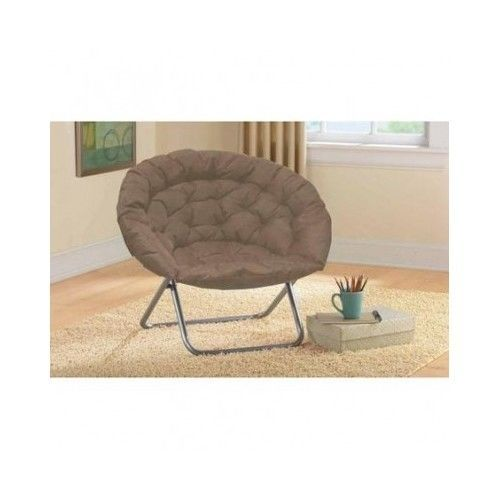 Moon Chair Papasan Furniture Folding Frame Padded Bedroom Dorm Room Kha