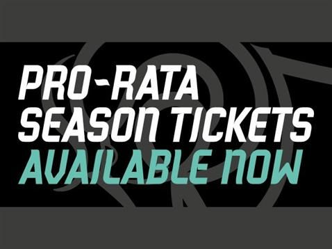 2016/17 Pro Rata Season Tickets Now Available