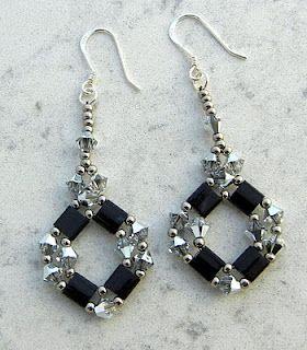 Diamond Tila Earring pattern here: http://www.aroundthebeadingtable.com/Patterns/DiamondTila.html
