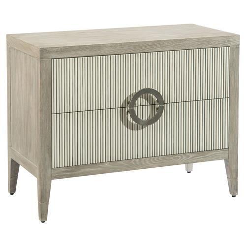John Richard Modern Classic Perth Grey Oak Reed Front Bachelor Chest Chest Furniture Classic Bedroom Furniture Furniture