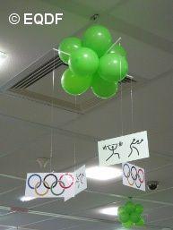 decoración sala habitación tema olimpiadas