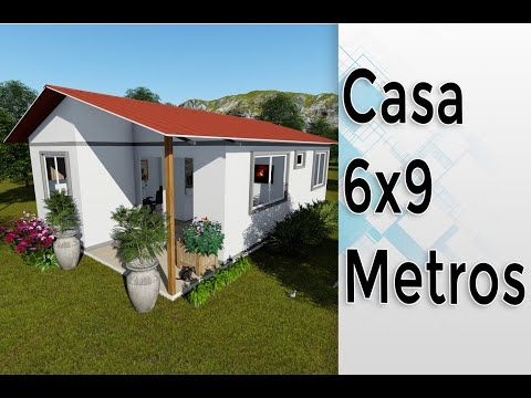 Mini Casa De 6 X 9 Metros Prefabricada 3 Habitaciones Youtube Planos De Casas Pequeñas Planos De Casas Prefabricadas Planos De Casas