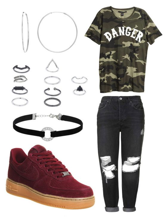 """""""FEEL IT/"""" by ll2amlllostllinllyoull ❤ liked on Polyvore featuring NIKE, Topshop, Sterling Essentials and Miss Selfridge"""