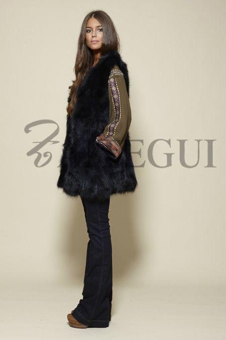 Chaleco azul marino de piel - 295,00€ : Zaitegui - Moda y ropa de marca para señora en Encartaciones