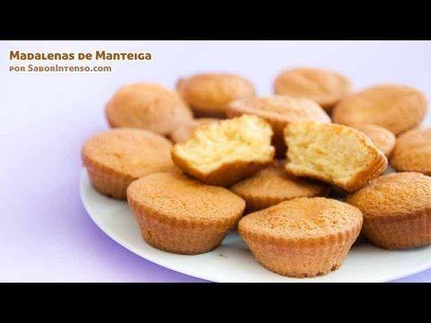 Madalenas de Manteiga   SaborIntenso.com