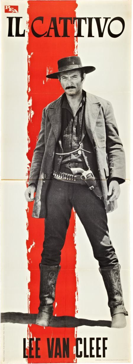 The Good The Bad & The Ugly, 1966. Italian movie premiere display. Sergio Leone. Lee Van Cleef, The Bad.