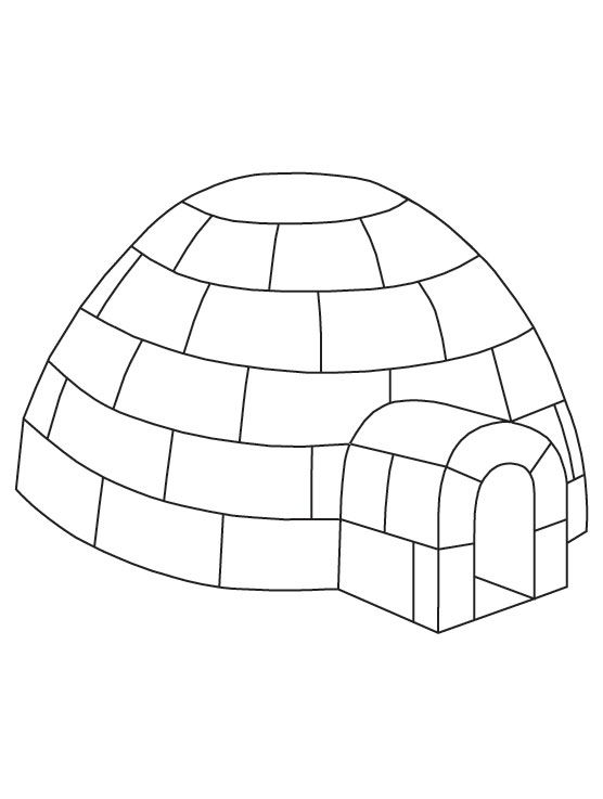 Igloo coloring page free printable igloo coloring page for Jumbo coloring pages