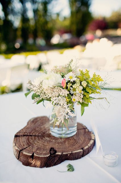 Wedding centerpieces country rustic