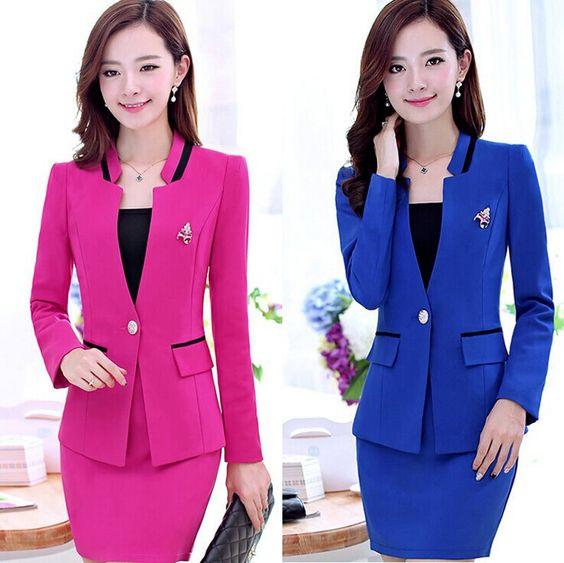 S/M/L/XL/XXL size high quality womens business suits 2014 Autumn