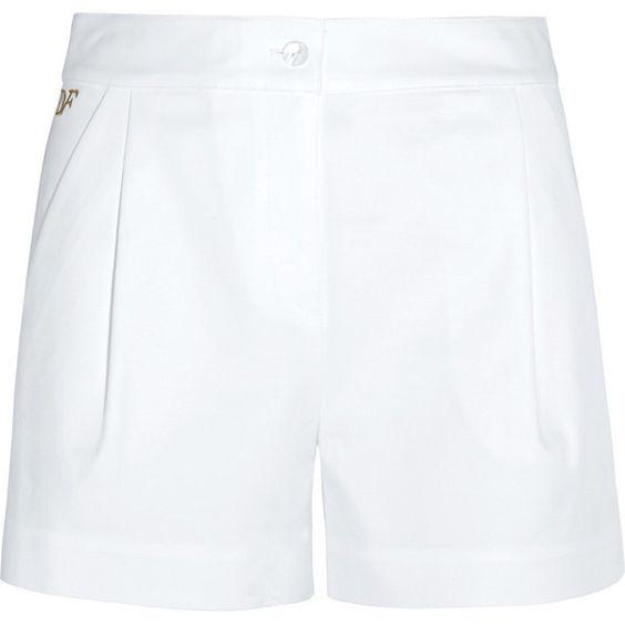 Diane von Furstenberg Hattie stretch-cotton shorts, White, Women's,... (1.955 HRK) via Polyvore featuring shorts, diane von furstenberg shorts, stretch shorts, cotton stretch shorts, diane von furstenberg and stretchy shorts