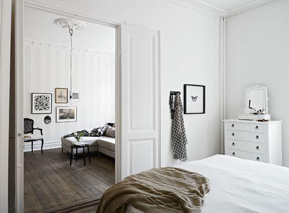 Classic white living room - via Coco Lapine