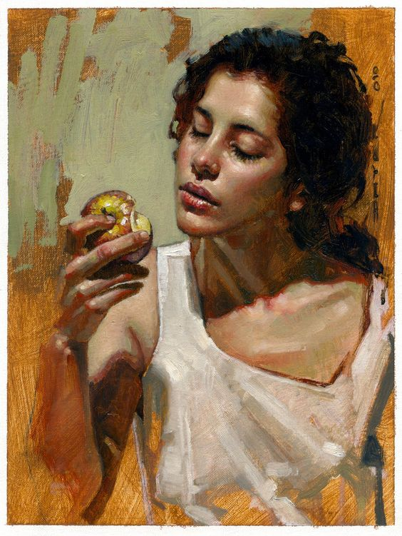 Beautiful Eat In Kitchens: Artist: Diego Dayer, Oil On Canvas {beautiful Female