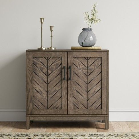 Eastford V Pattern Accent Cabinet Brown Threshold Target Accent Cabinet Decor Accent Cabinet Living Room Accent Cabinet