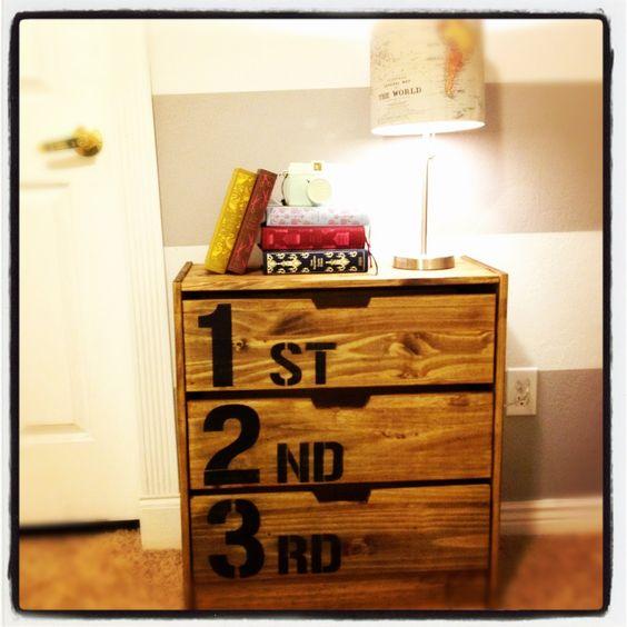 anthropologie-inspired dresser made from an ikea dresser
