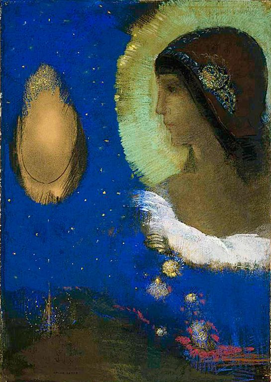 Odilon Redon - Sita. Art Experience NYC www.artexperiencenyc.com/social_login/?utm_source=pinterest_medium=pins_content=pinterest_pins_campaign=pinterest_initial