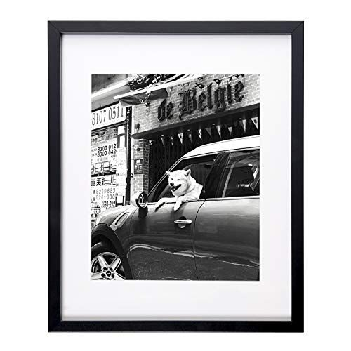 Flagship Frames 11x14 Picture Frame Black Sized 8x10 Inch With Mat And 11x14 Inch Without Mat Pre Installed Wall Mounting Hardware With Back Easel Black 11x14 Picture Frame Picture Frame Sizes Picture
