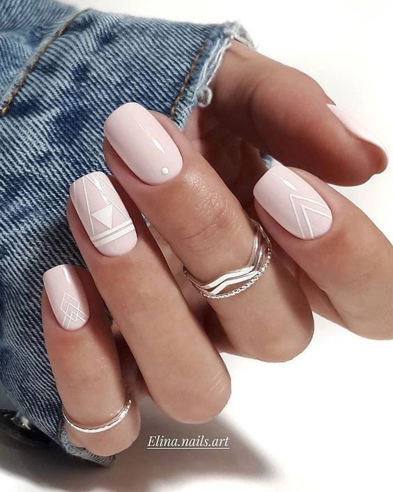 30 Pink Nails Examples The Trendiest Pink Nail Colors To Use With Images Square Nail Designs Square Nails Square Acrylic Nails
