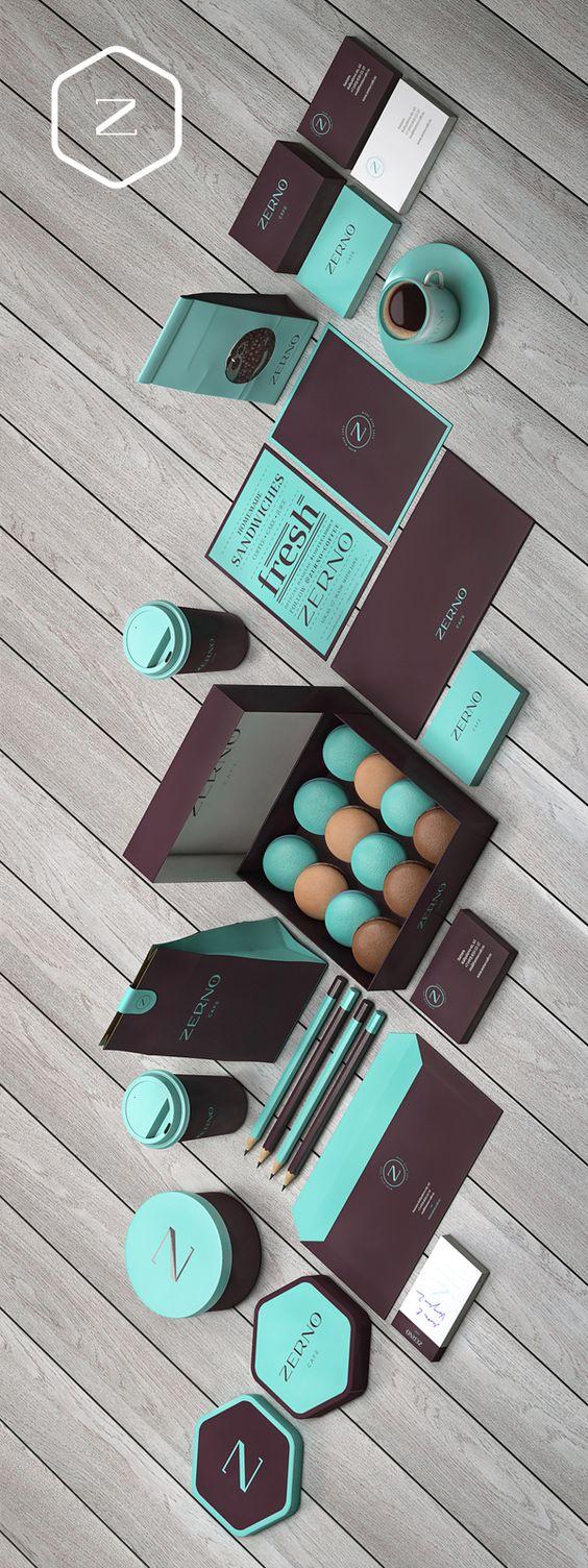 Línea de diseño simple, paleta de color limitada solo a dos colores y vualá...la magia sucede. Zerno by Brandberry via Behance. Yummy colors on this #packaging PD