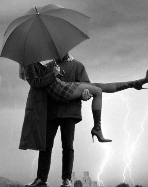 Just a little kiss in the storm.