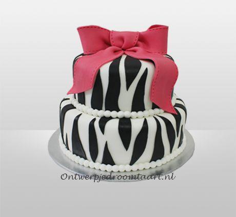 Zebra verjaardagstaart