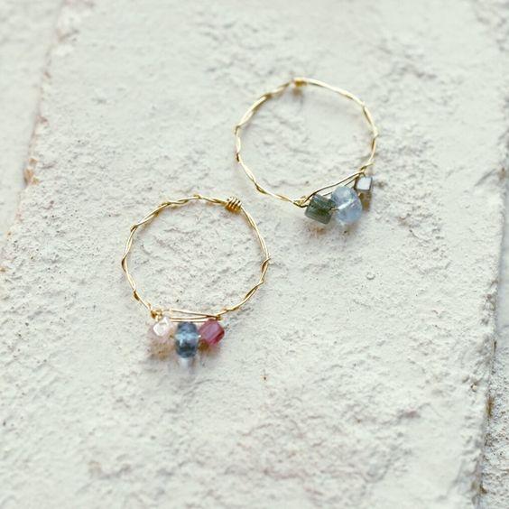 #mayumirings #aquamarine #tourmaline #goldfilled #accessories #jewelry #handmade #14kgf