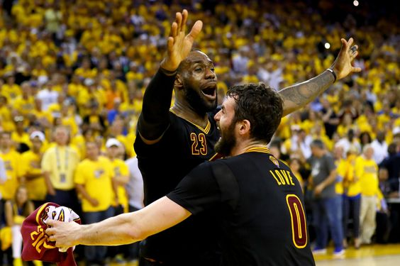 The Cavaliers, led by LeBron James, defeated the Golden State Warriors in Game 7 of the finals.: