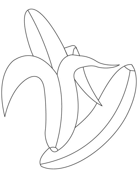 peeled banana coloring pages - photo#2