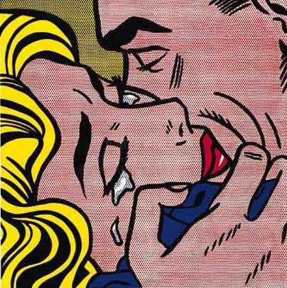 R Lichtenstein - El Beso