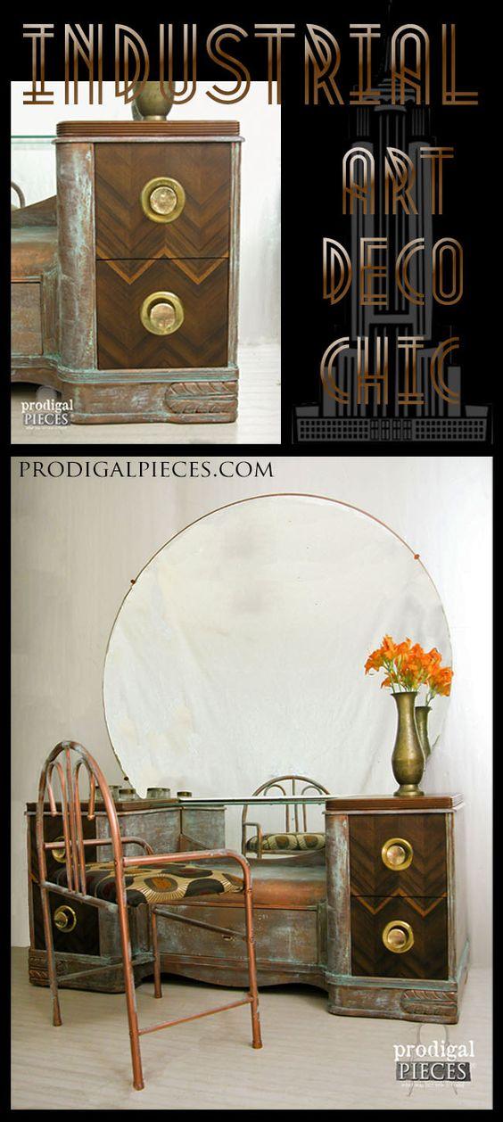 Industrial art deco chic themed makeover art deco deco - Deco vintage chic ...