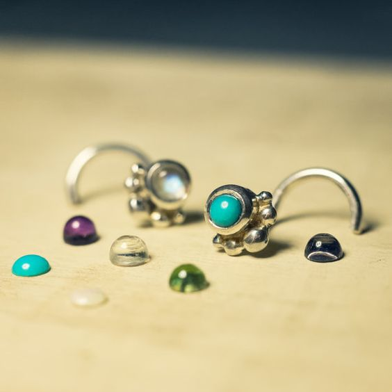 I love new options! I got my hands on some tiny cabochons that fit wonderfully in my 3mm V styles setting. These guys will be lovingly hand set by