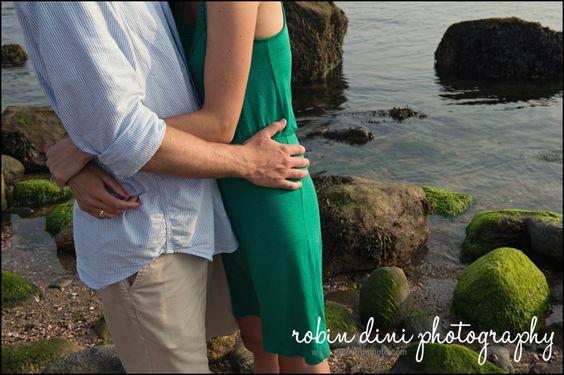 Robin Dini Photography, Connecticut Wedding Photographer, engagement session, jewel tones, beach, seagrass, Hammonasett State Park, portrait, details, water, rocks, summer engagement session, beach engagement session