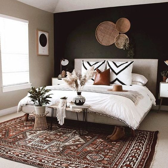 Ohh this is perfectttt. That rug though!! ? #bedroomgoals #bedroomideas #bedroomdesign