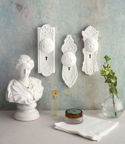 Statuette & Door Knobs