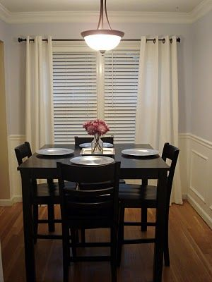 dining rooms tables and curtains on pinterest