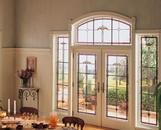 Regency art glass from the andersen art glass collection for Andersen exterior french doors