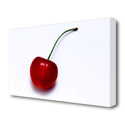 Red Cherries Kitchen SINGLE CANVAS WALL ARTWORK Print Art