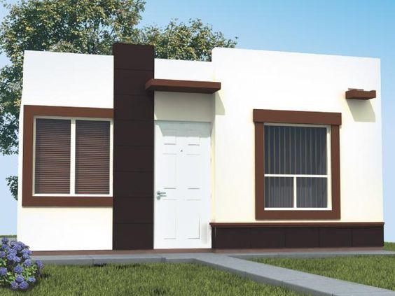 Fachadas de casas de una planta modernas dise o de for Plantas decorativas para interiores