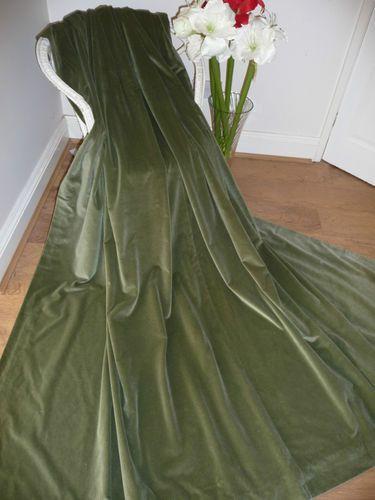Emerald Green velvet curtains. Chartreuse walls. Black white ...