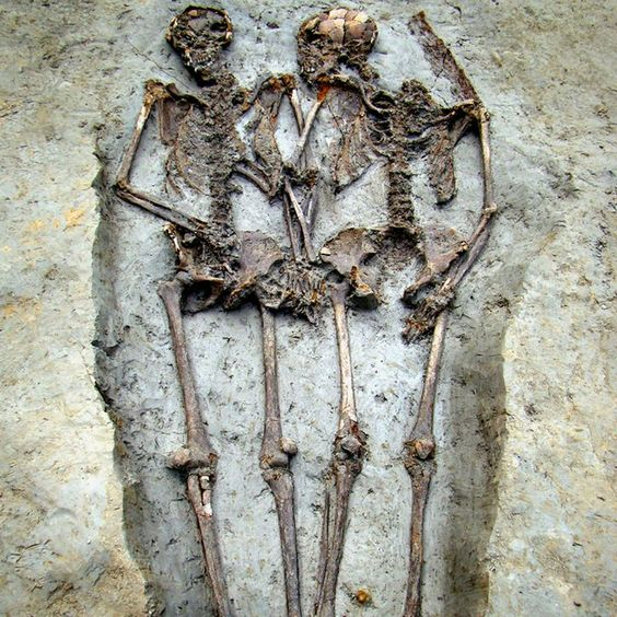 Skeletal remains of a Roman-era couple who have been holding hands for 1,500 years