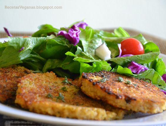 Sin gluten ni lactosa, horneadas en vez de fritas, estas hamburguesas veganas de falafel son una versión saludable de la tradicional receta.