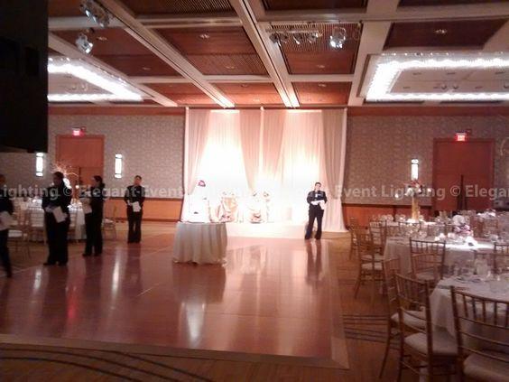 Elegant Event Lighting washed the bridal party head table with soft lighting . & Elegant Event Lighting washed the bridal party head table with ... azcodes.com