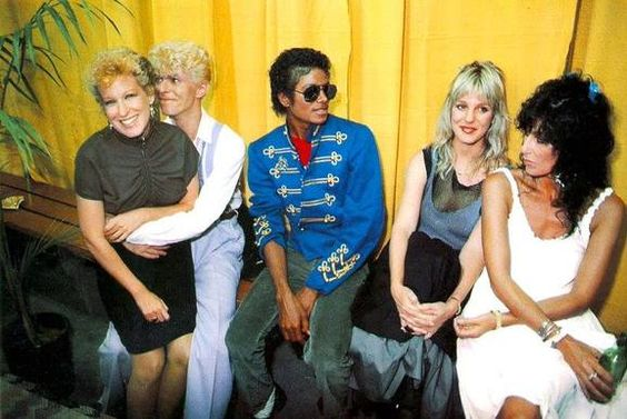 David Bowie, Bette Midler, Michael Jackson, Georganne LaPiere & Cher